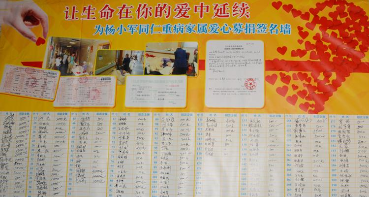 金士吉集团组织对员工杨小军重病家属捐款活动,据初步统计,本次募捐